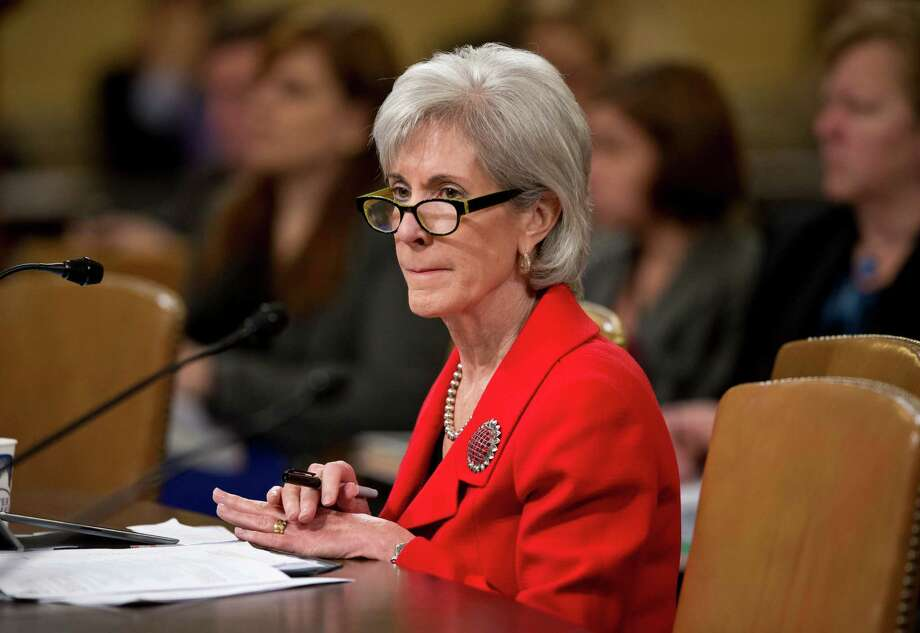Health and Human Services (HHS) Secretary Kathleen Sebelius testifies on Capitol Hill in Washington, Friday, April 12, 2013, before the House Ways and Means Committee hearing on President Barack Obama's budget proposal for fiscal year 2014, and the HHS.   (AP Photo/J. Scott Applewhite) Photo: J. Scott Applewhite, STF / AP