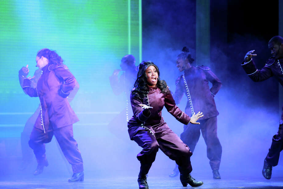 "Sgt. Nadine Pope performs in the 2012 ""U.S. Soldier Show."" Courtesy Evan Dyson, IMCOM Public Affairs"