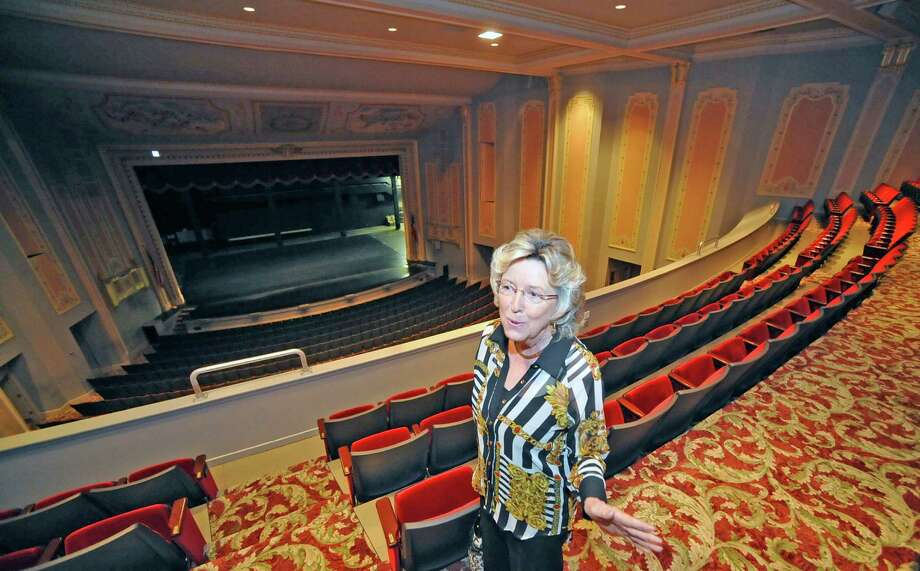 Claudie Hawkins, seen here inside the Julie Rogers Theatre, is retiring from the City of Beaumont after 35 years and her current title is Event Facilities and Library Director, which means she's in charge of everything from the Civic Center, the Julie Rogers Theatre, the Jefferson Theatre, all the community centers, the libraries, Riverfront Park and the new Event Centre. In her career, she has met the famous and otherwise, and kept events running smoothly. Dave Ryan/The Enterprise Photo: Dave Ryan