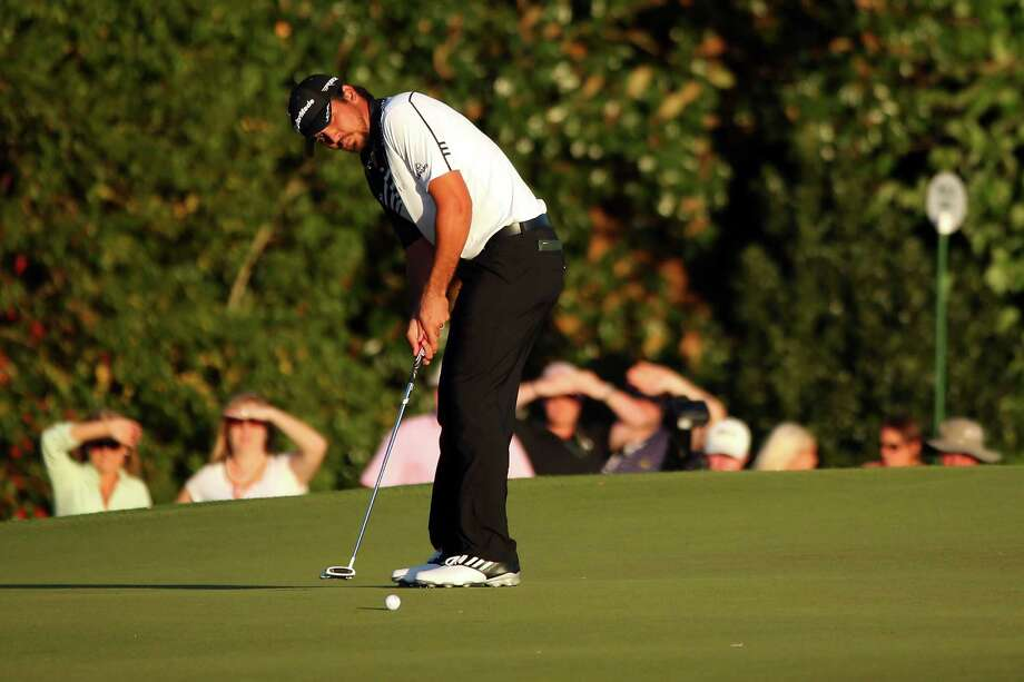 AUGUSTA, GA - APRIL 12:  Jason Day of Australia reacts putts on the 17th hole during the second round of the 2013 Masters Tournament at Augusta National Golf Club on April 12, 2013 in Augusta, Georgia.  (Photo by Mike Ehrmann/Getty Images) Photo: Mike Ehrmann