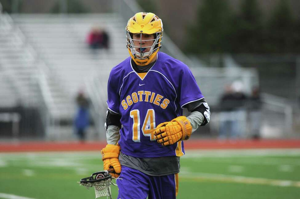 Ballston Spa junior defender Kyle Abdelattif (#14) during lacrosse game action against Columbia on Thursday April 11, 2013 in East Greenbush, N.Y. (Michael P. Farrell/Times Union)