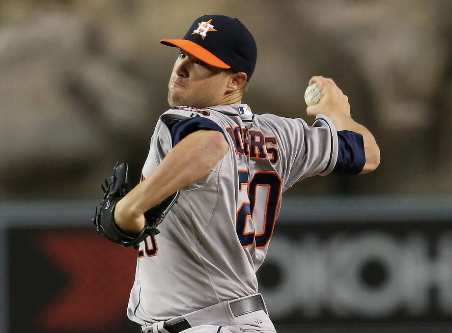 Astros righthander Bud Norris turned in a gem of a performance against the Angels on Friday night, allowing just three hits and tossing seven shutout innings to lower his ERA to 1.96. Photo: Stephen Dunn, Staff / 2013 Getty Images