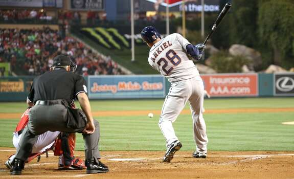 April 12: Astros 5, Angels 0 The Astros extended their winning streak to three games after knocking off the Angles in the first game of a three-game set in Los Angeles.  Record: 4-6. Photo: Stephen Dunn, Getty Images