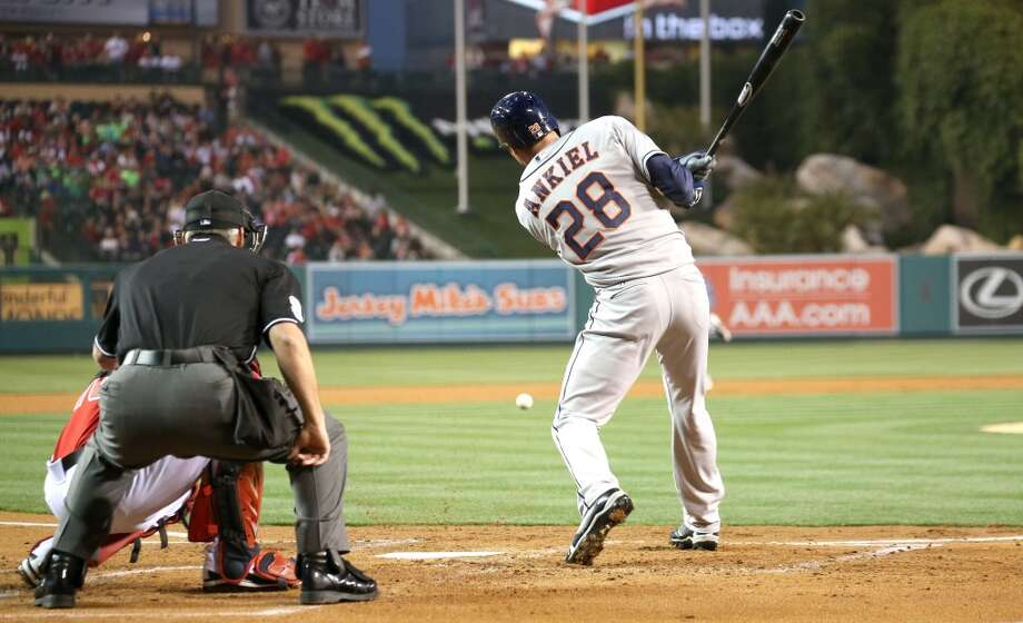 April 12: Astros 5, Angels 0The Astros extended their winning streak to three games after knocking off the Angles in the first game of a three-game set in Los Angeles.  Record: 4-6. Photo: Stephen Dunn, Getty Images
