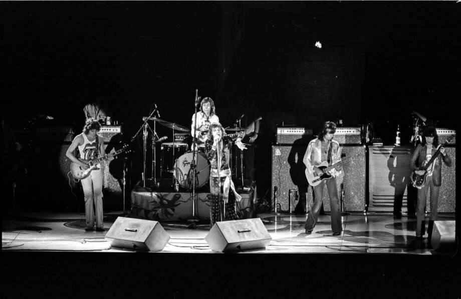 The Rolling Stones in concert at Hofheinz Pavilion, June 25, 1972. Photo: Photos By David Nance, Houston Chronicle