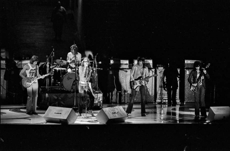 The Rolling Stones in concert at Hofheinz Pavilion, June 25, 1972. Photo: David Nance, Houston Chronicle