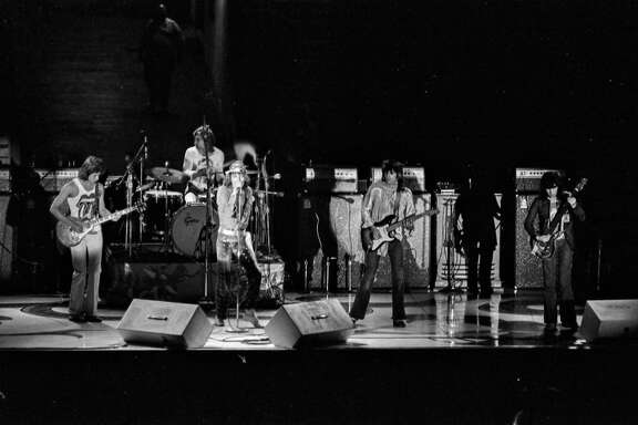 The Rolling Stones in concert at Hofheinz Pavilion, June 25, 1972.