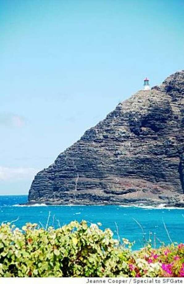 O'ahu\'s Windward Side offers a view of the distant Makapu'u Lighthouse, nearly 350 feet above the coast.