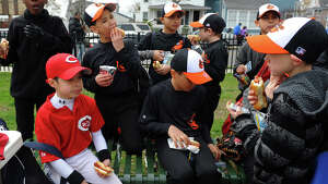 An Opening Day Ceremony was held for teams in the Black Rock Little League at Ellsworth Field in Bridgeport, Conn. on Saturday April 13, 2013.