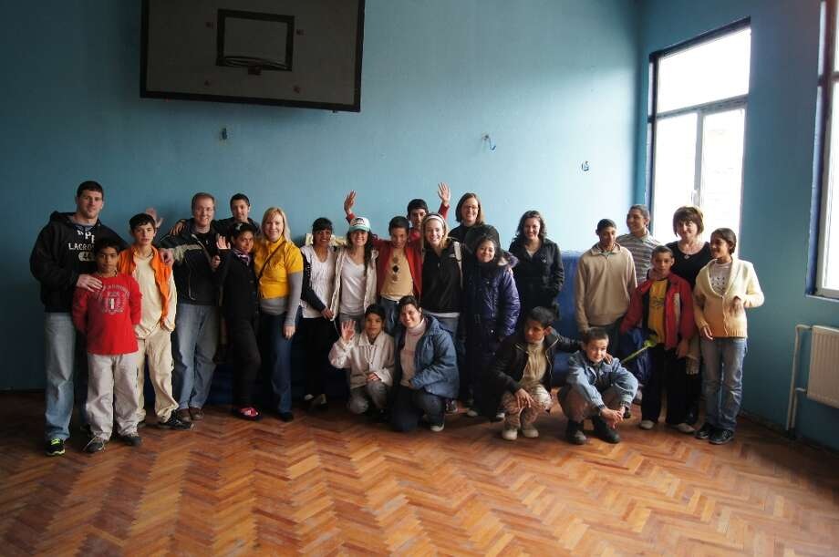 Some of the kids from the orphanage with the team!  Photo by Ilko Ilieva.