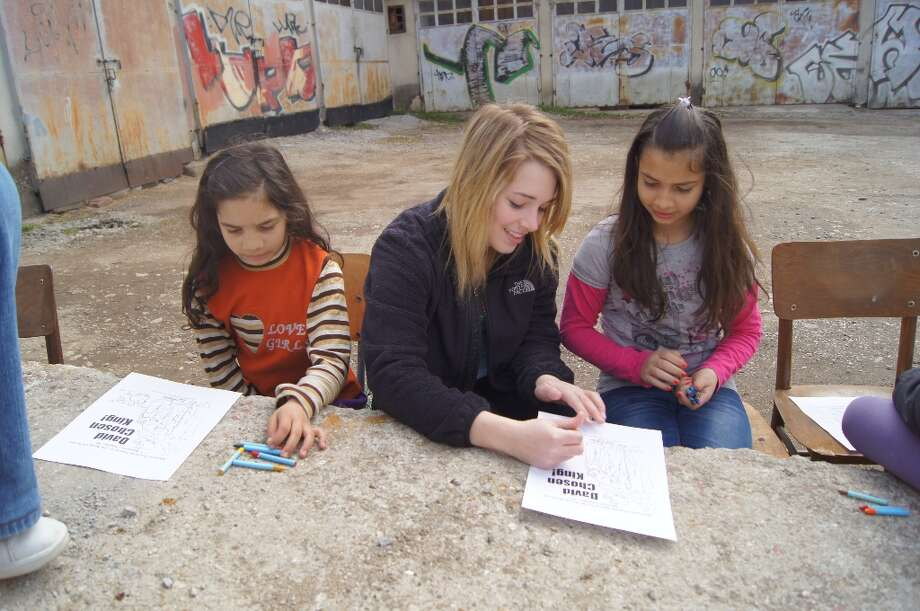 After the lesson we did coloring pages with all the kids. Photo by Victor Ilieva.