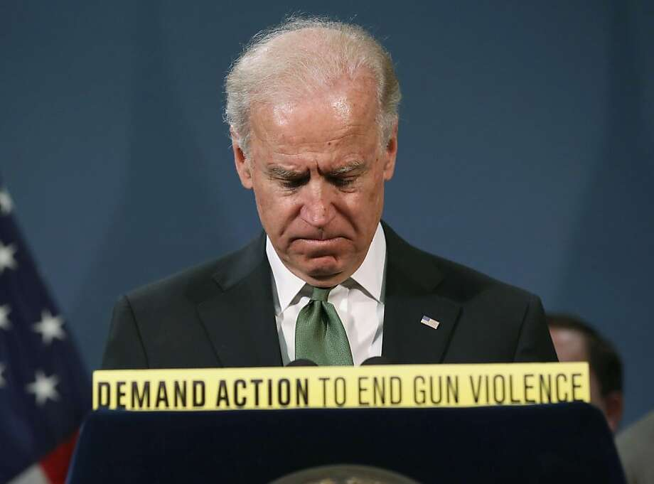Vice President Joe Biden backs gun reform at a press conference on March. Cruz, of course, disagreed.