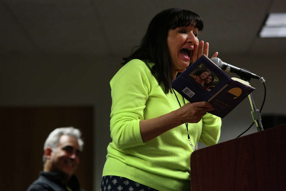 "Sandra Cisneros reads from her book ""Have you seen Marie?""   during the recent Texas Book Festival/San Antonio Edition. A reader expresses her delight in the ""wonderful"" event. Photo: Lisa Krantz, San Antonio Express-News / San Antonio Express-News"