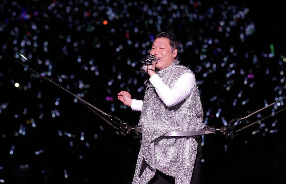 "Singer PSY performs onstage in his concert titled ""Happening"" at Olympic Stadium on April 13, 2013 in Seoul, South Korea. Photo: Chung Sung-Jun, Getty Images / 2013 Getty Images"
