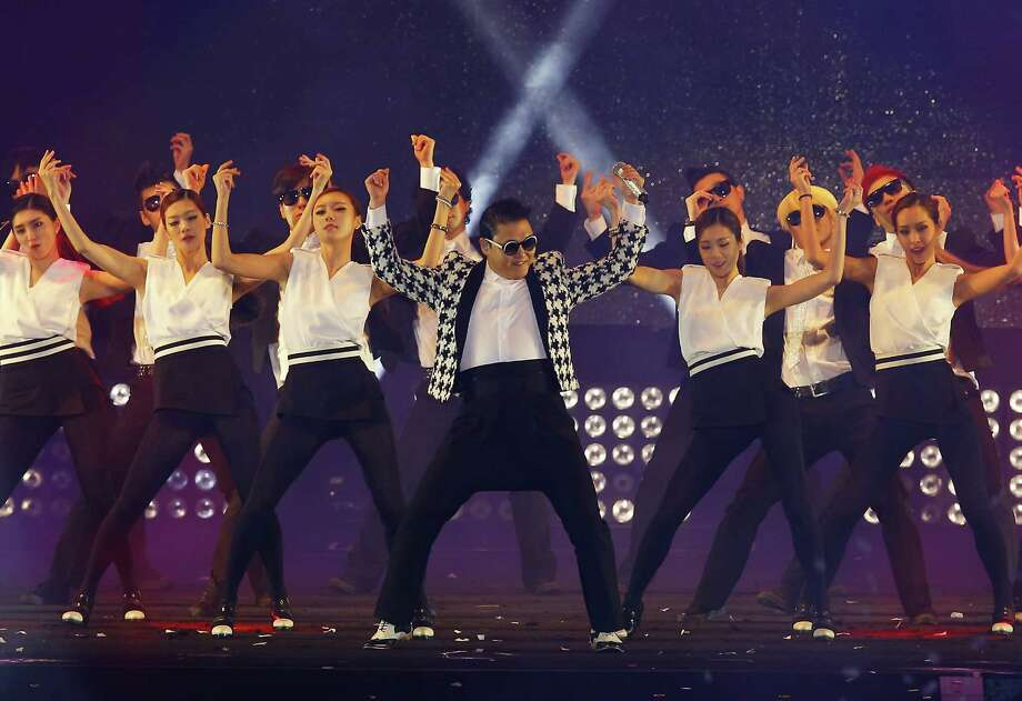 "Singer PSY performs his new single 'Gentleman' in concert titled ""Happening"" at Olympic Stadium on April 13, 2013 in Seoul, South Korea. Photo: Chung Sung-Jun, Getty Images / 2013 Getty Images"