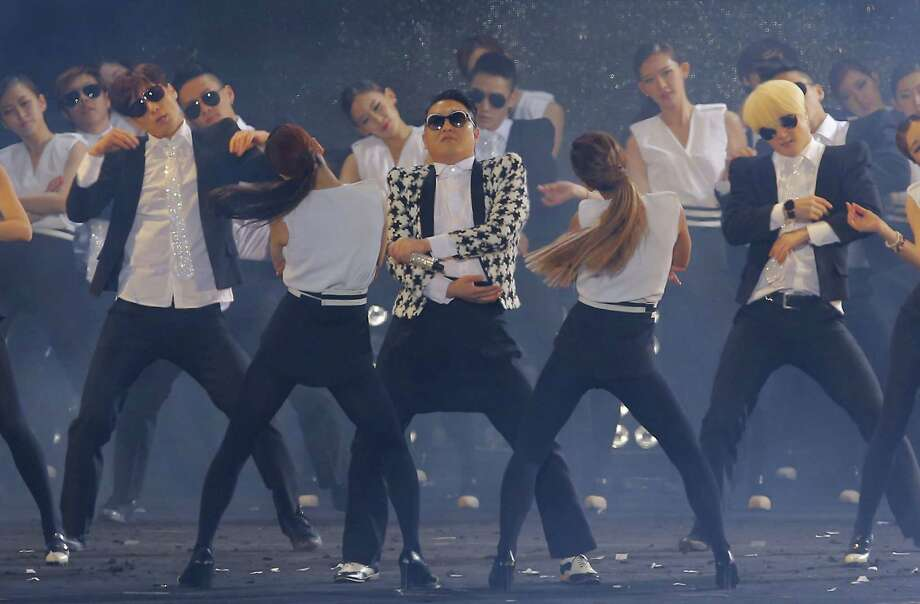 """Singer PSY performs his new single 'Gentleman' in concert titled """"Happening"""" at Olympic Stadium on April 13, 2013 in Seoul, South Korea. Photo: Chung Sung-Jun, Getty Images / 2013 Getty Images"""