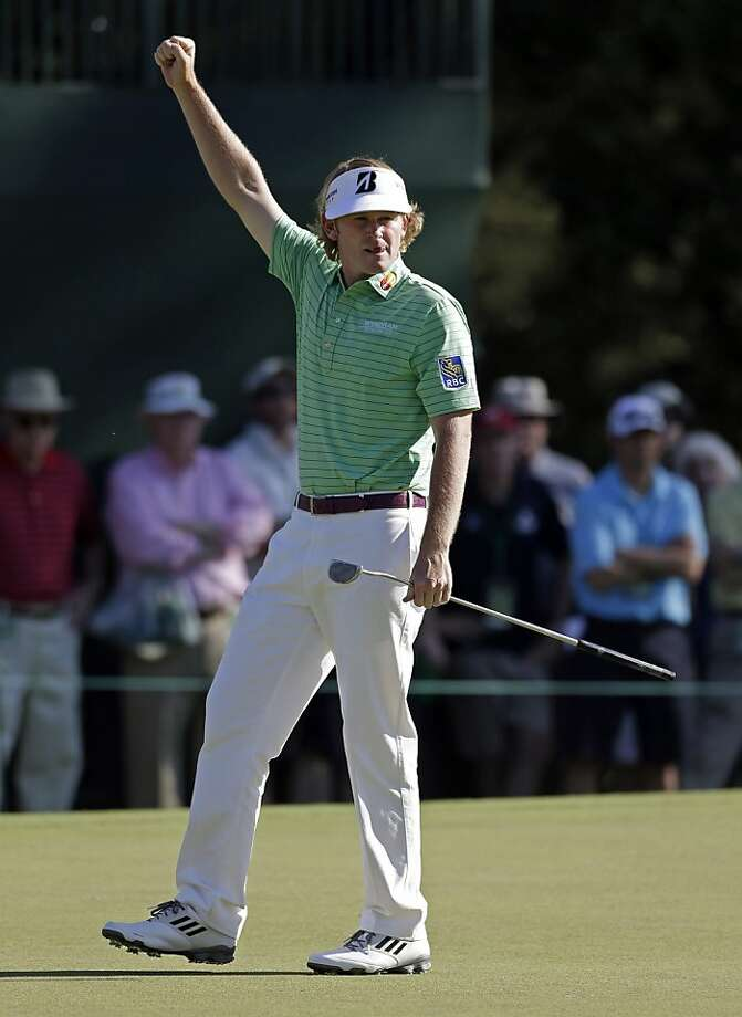 "Brandt Snedeker, making a birdie putt Saturday on No. 15 at Augusta National, says he's ""not here to finish top-five. I'm here to win."" Photo: Darron Cummings, Associated Press"