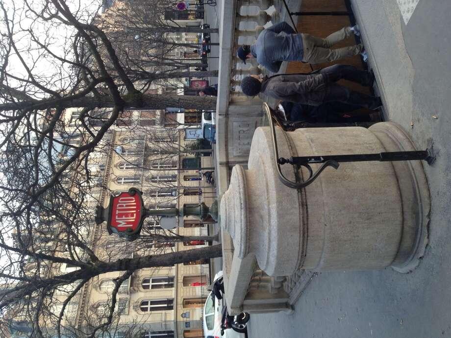 A Paris metro stop