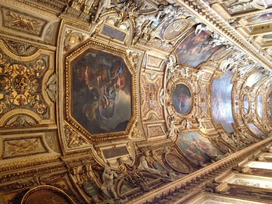 Ceiling in a room in the Louvre