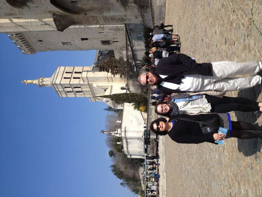 My parents and I in Avignon, photo taken by Lindsey Bouchard