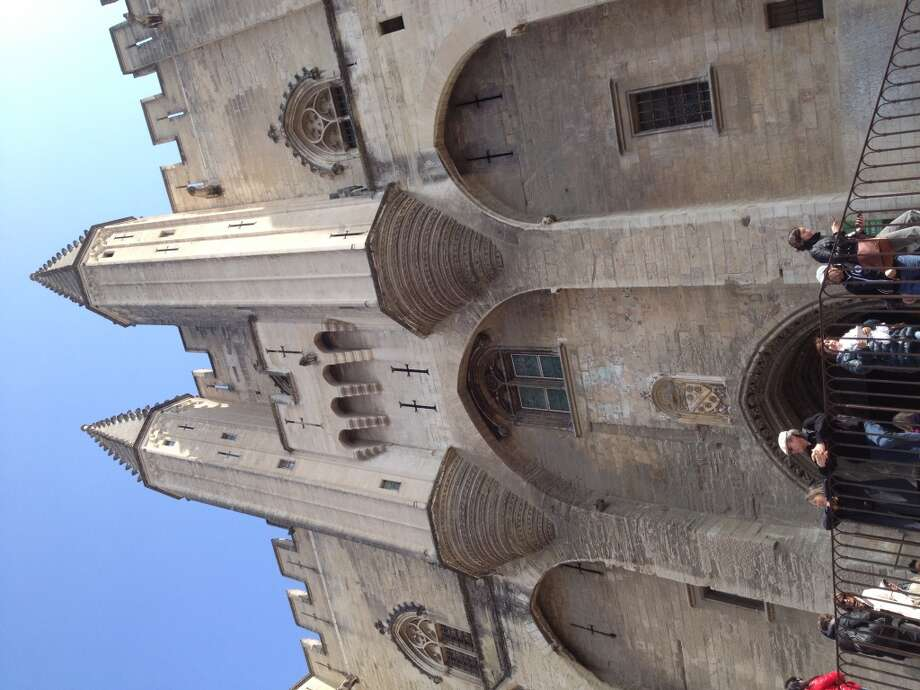 The Palais des Papes in Avignon, a chateau where the Catholic popes used to live