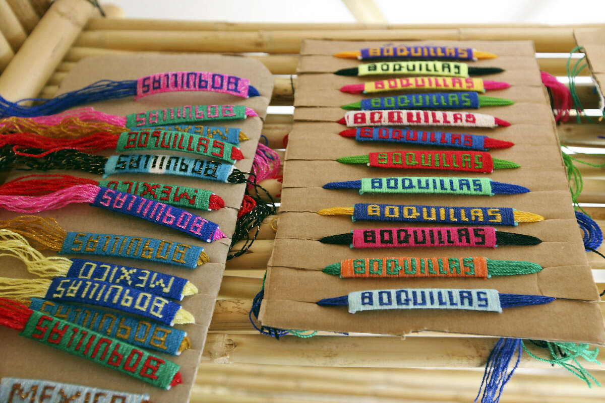 Although offerings were sparse, visitors to Boquillas could buy these bracelets.