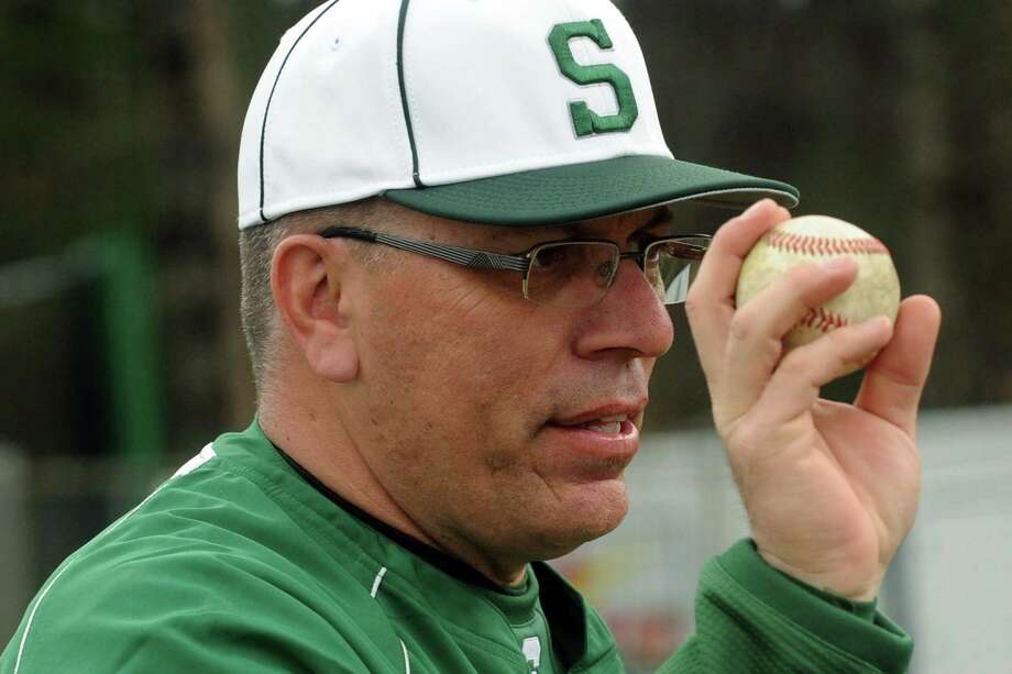 Shenendehowa High School baseball coach Greg Christodulu works with his team during a practice on Wednesday April 10, 2013 in Clifton Park, N.Y. (Michael P. Farrell/Times Union) Photo: Michael P. Farrell