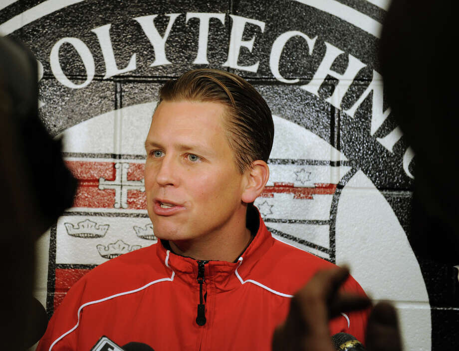 RPI hockey Head Coach Seth Appert answers questions from the press during media day on Tuesday, Oct. 2, 2012 in Troy, N.Y.  (Lori Van Buren / Times Union) Photo: Lori Van Buren / 00019456A
