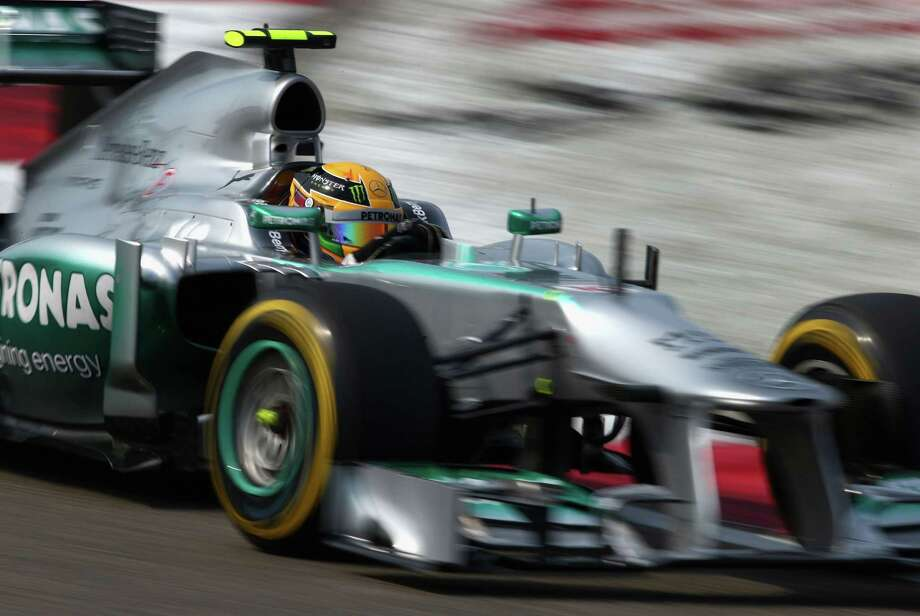 SHANGHAI, CHINA - APRIL 13:  Lewis Hamilton of Great Britain and Mercedes GP drives during qualifying for the Chinese Formula One Grand Prix at the Shanghai International Circuit on April 13, 2013 in Shanghai, China.  (Photo by Clive Mason/Getty Images) Photo: Clive Mason