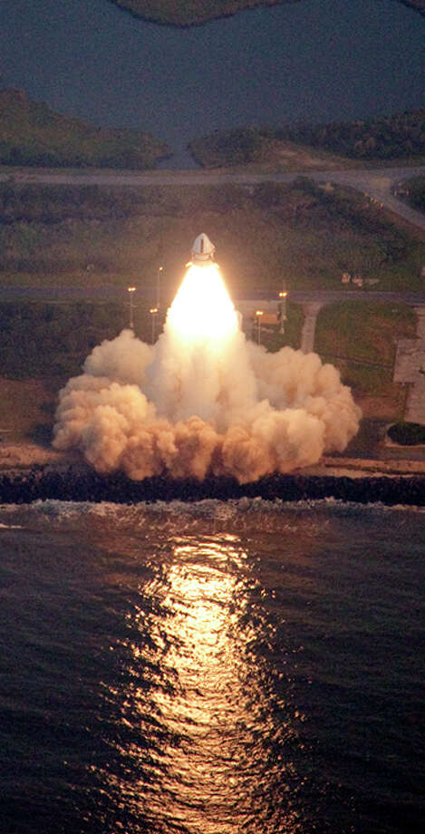 Launches such as this 2009 liftoff of an astronaut escape rocket have taken place in Virginia for decades. Photo: Jim Mason-Foley, HOPD / NASA