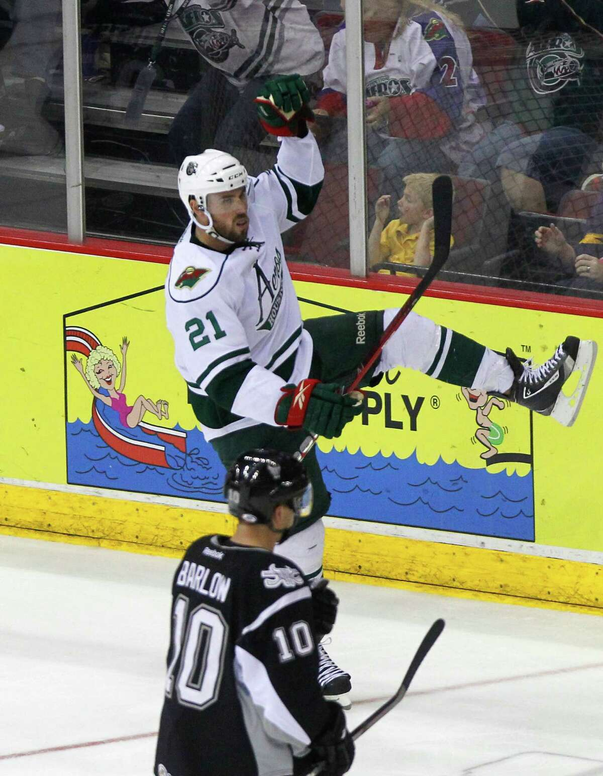 Right wing Dan DaSilva scored the goal that put the Aeros ahead for good during the second period.