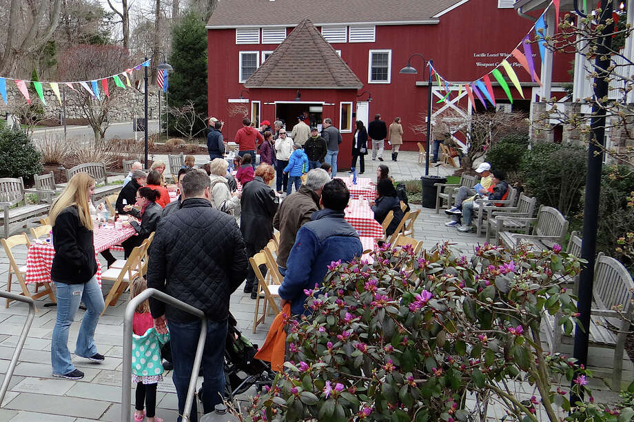 "The grounds of the Westport Country Playhouse was a beehive of activity Saturday as the theater histed a ""block party"" to kick off its new season.  WESTPORT NEWS, CT 4/13/13 Photo: Contributed Photo / Westport News contributed"