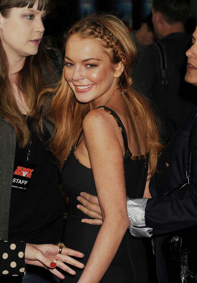 Actress Lindsay Lohan arrives at the 'Scary Movie V' Los Angeles premiere atArcLight Cinemas Cinerama Dome on April 11, 2013 in Hollywood, California. (Photo by Jeffrey Mayer/WireImage) Photo: Jeffrey Mayer, Getty / 2013 Jeffrey Mayer