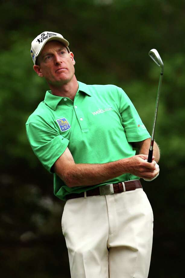 AUGUSTA, GA - APRIL 14:  Jim Furyk of the United States tees off on the fourth hole during the final round of the 2013 Masters Tournament at Augusta National Golf Club on April 14, 2013 in Augusta, Georgia. Photo: Mike Ehrmann, Getty Images / 2013 Getty Images