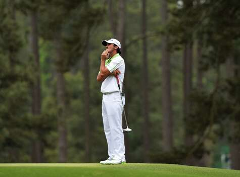 Jason Day of Australia waits to putt during the fourth round of the 77th Masters golf tournament at Augusta National Golf Club on April 14, 2013 in Augusta, Georgia.  AFP PHOTO /  JEWEL SAMADJEWEL SAMAD/AFP/Getty Images Photo: JEWEL SAMAD, AFP/Getty Images / AFP