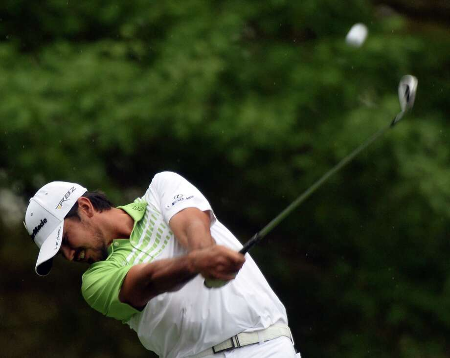Jason Day of Australia plays a shot during the fourth round of the 77th Masters golf tournament at Augusta National Golf Club on April 14, 2013 in Augusta, Georgia.  AFP PHOTO /  JEWEL SAMADJEWEL SAMAD/AFP/Getty Images Photo: JEWEL SAMAD, AFP/Getty Images / AFP