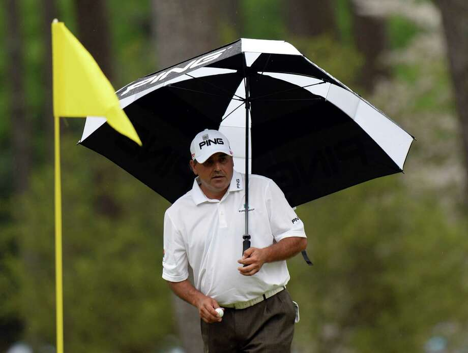 Angel Cabrera of Argentina during the final round of the 77th Masters golf tournament at Augusta National Golf Club on April 14, 2013 in Augusta, Georgia.  AFP PHOTO / DON EMMERTDON EMMERT/AFP/Getty Images Photo: DON EMMERT, AFP/Getty Images / AFP
