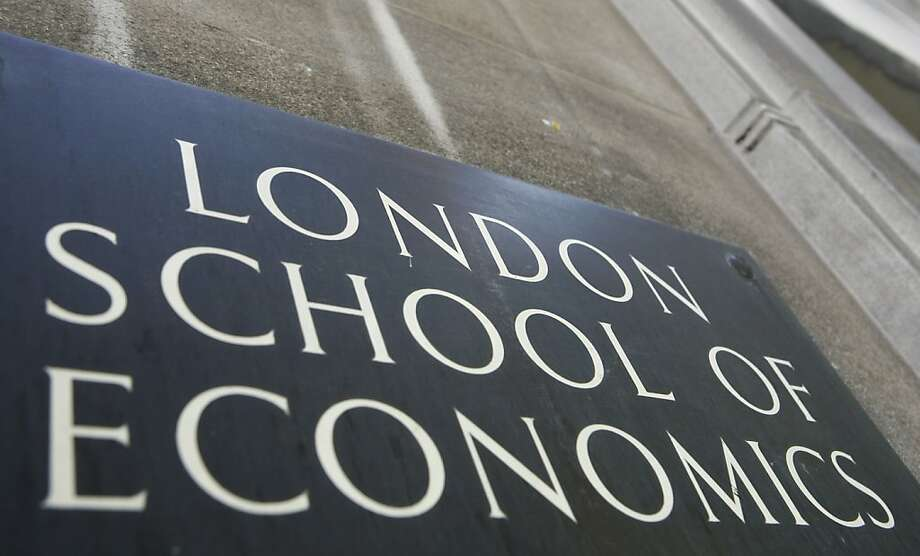 "The name plaque outside the London School of Economics (LSE) in this file photo dated Sept. 3, 2009, in central London.  The renowned LSE has denounced the BBC for using a student-organized trip to North Korea as ""cover"" for a reporting trip to the secretive communist country, and alleging the BBC put students at risk by having a journalist pretend to be affiliated with the university to be free to gather material and conducting undercover filming for a TV program which is set to be broadcast upcoming Monday. Foreign reporting crews usually have to operate under strict supervision in North Korea, but it seems that an covert three-person TV crew was involved and the LSE alleges that the BBC were reckless in putting the students at rick.(AP Photo/Johnny Green) UNITED KINGDOM OUT - NO SALES - NO ARCHIVES (AP Photo/Johnny Green, PA) UNITED KINGDOM OUT - NO SALES - NO ARCHIVES Photo: Johnny Green, Associated Press"