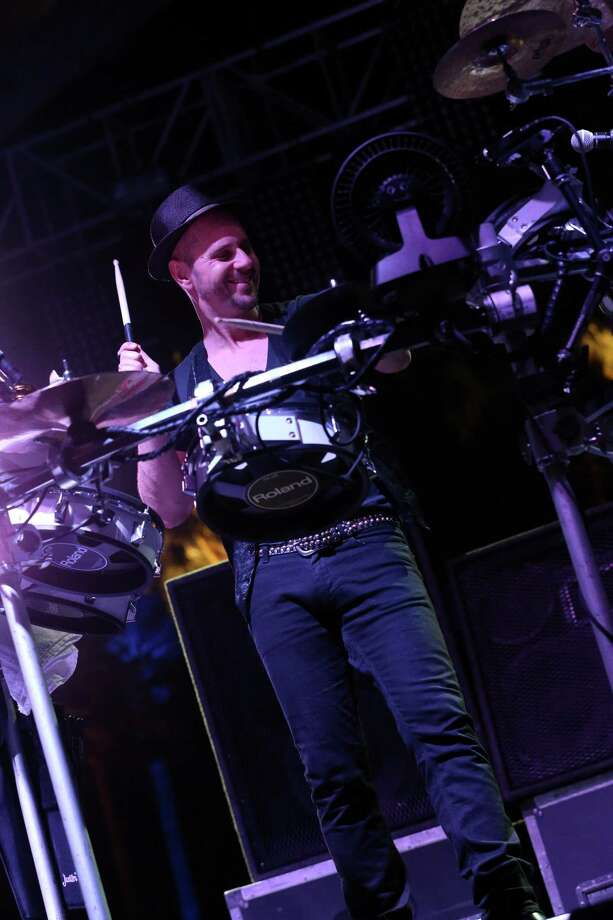 Arno Kammermeier of Booka Shade performs onstage during day 2 of the 2013 Coachella Valley Music & Arts Festival at the Empire Polo Club on April 13, 2013 in Indio, California. Photo: Karl Walter, Getty Images / 2013 Getty Images