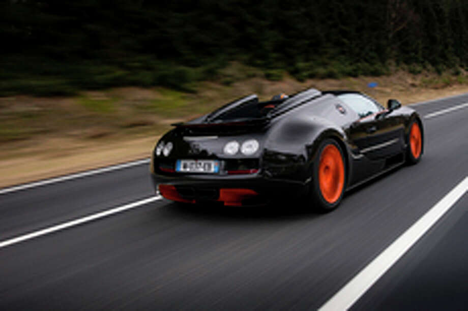 This particular Veyron puts out 1,200 horsepower from an 8-liter W16 engine.