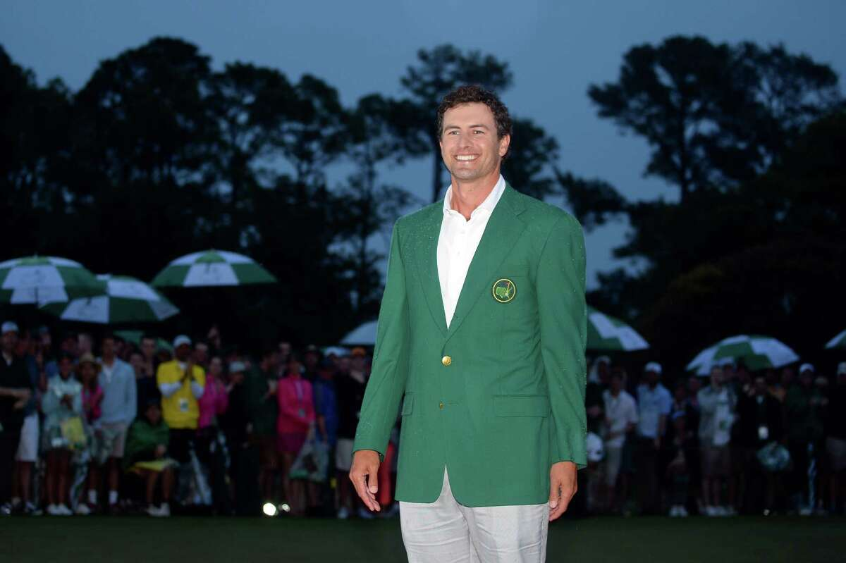 AUGUSTA, GA - APRIL 14: Adam Scott of Australia smiles while wearing his green jacket after winning the 2013 Masters Tournament at Augusta National Golf Club on April 14, 2013 in Augusta, Georgia.