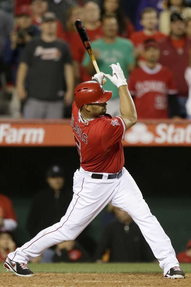 April 13: Angels 5, Astros 4 Albert Pujols ended the Astros' three-game winning streak with a two-run double in the bottom of the ninth inning.  Record: 4-7. Photo: Chris Carlson, Associated Press
