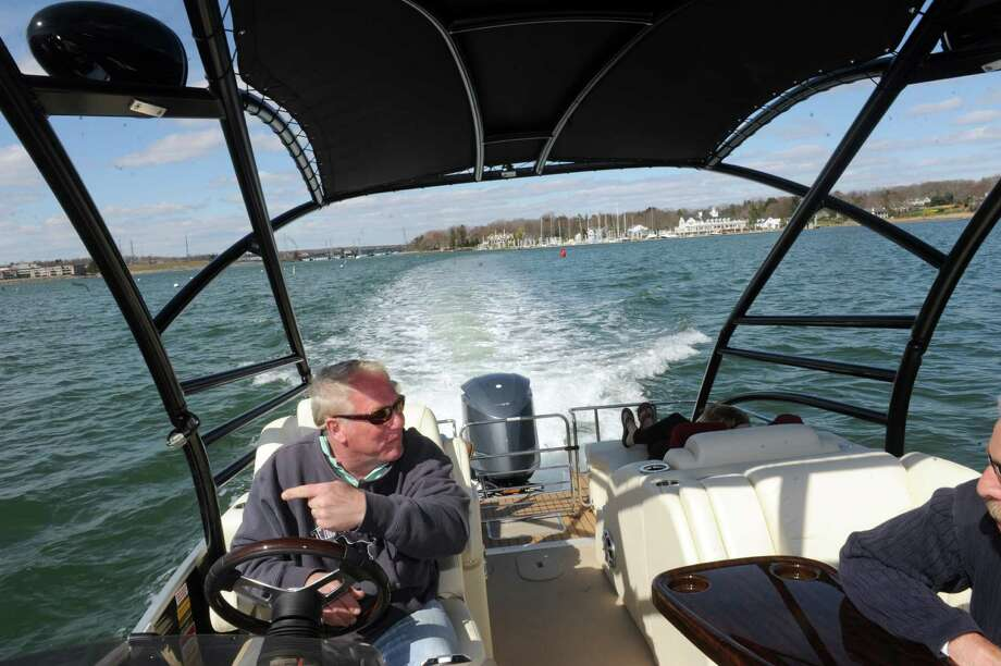 Greenwich Boat Show at  Beacon Point Marine and Greenwich Water Club in Cos Cob, Conn., Sunday, April 14, 2013. Photo: Helen Neafsey / Greenwich Time