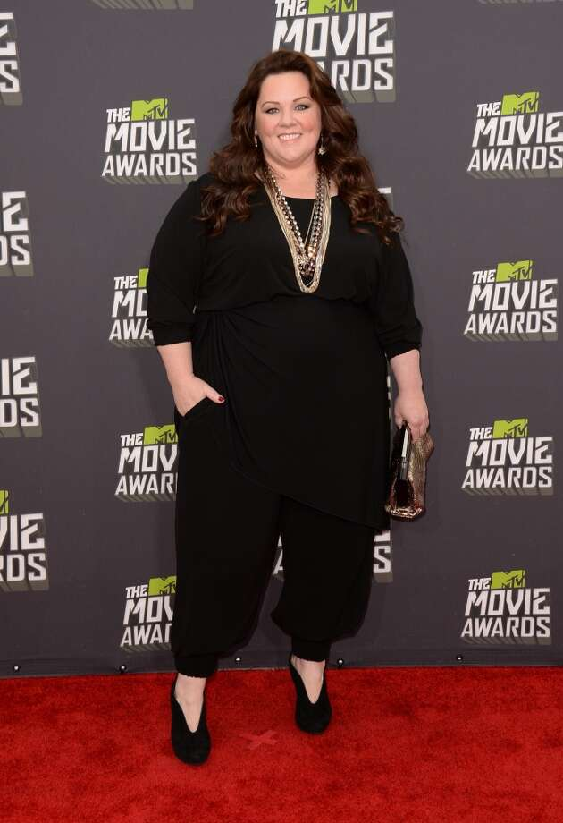 CULVER CITY, CA - APRIL 14:  Actress Melissa McCarthy arrives at the 2013 MTV Movie Awards at Sony Pictures Studios on April 14, 2013 in Culver City, California.  (Photo by Jason Merritt/Getty Images)