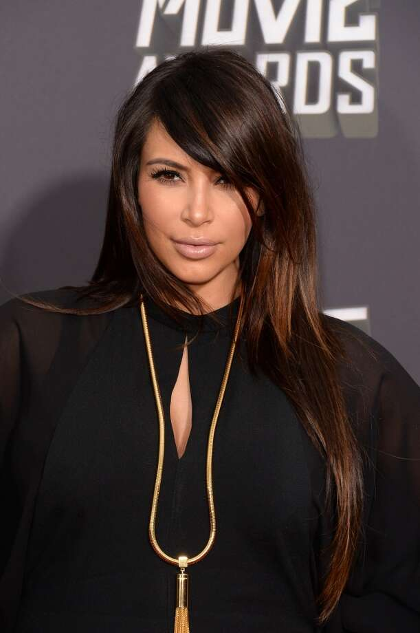 CULVER CITY, CA - APRIL 14:  TV personality Kim Kardashian arrives at the 2013 MTV Movie Awards at Sony Pictures Studios on April 14, 2013 in Culver City, California.  (Photo by Jason Merritt/Getty Images)
