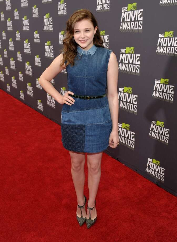 IMAGE DISTRIBUTED FOR MTV - Actress Chloe Grace Moretz arrives at the MTV Movie Awards in Sony Pictures Studio Lot in Culver City, Calif., on Sunday April 14, 2013. (Photo by John Shearer/Invision for MTV/AP Images)