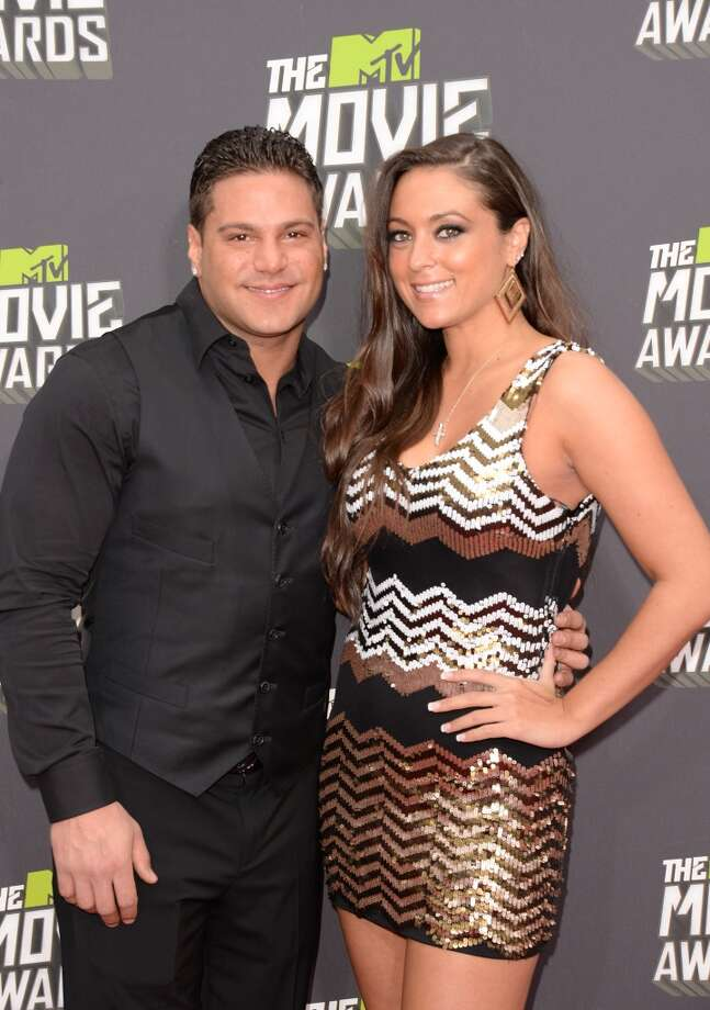 CULVER CITY, CA - APRIL 14:  TV personalities Ronnie Ortiz-Magro and  Sammi Giancola arrive at the 2013 MTV Movie Awards at Sony Pictures Studios on April 14, 2013 in Culver City, California.  (Photo by Jason Merritt/Getty Images)