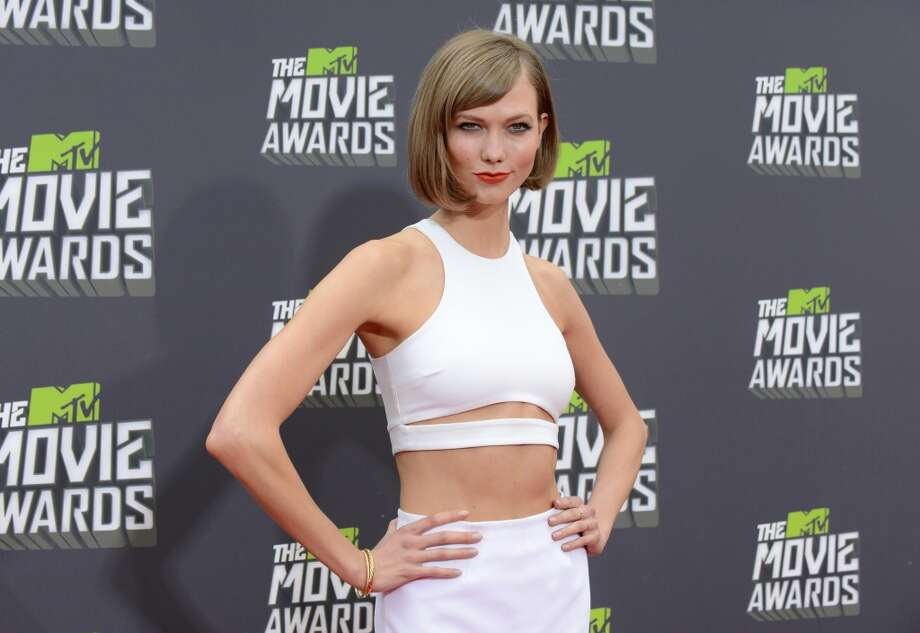 IMAGE DISTRIBUTED FOR MTV -  Model Karlie Kloss arrives at the MTV Movie Awards in Sony Pictures Studio Lot in Culver City, Calif., on Sunday April 14, 2013. (Photo by Jordan Strauss/Invision/AP)