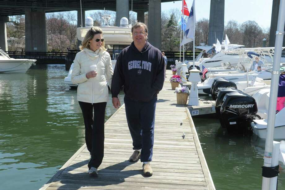 Greenwich Boat ShowThe Greenwich In-Water Boat Show takes place Saturday and Sunday at Beacon Point Marina and the Greenwich Water Club on River Road in Cos Cob. Find out more.  Photo: Helen Neafsey / Greenwich Time