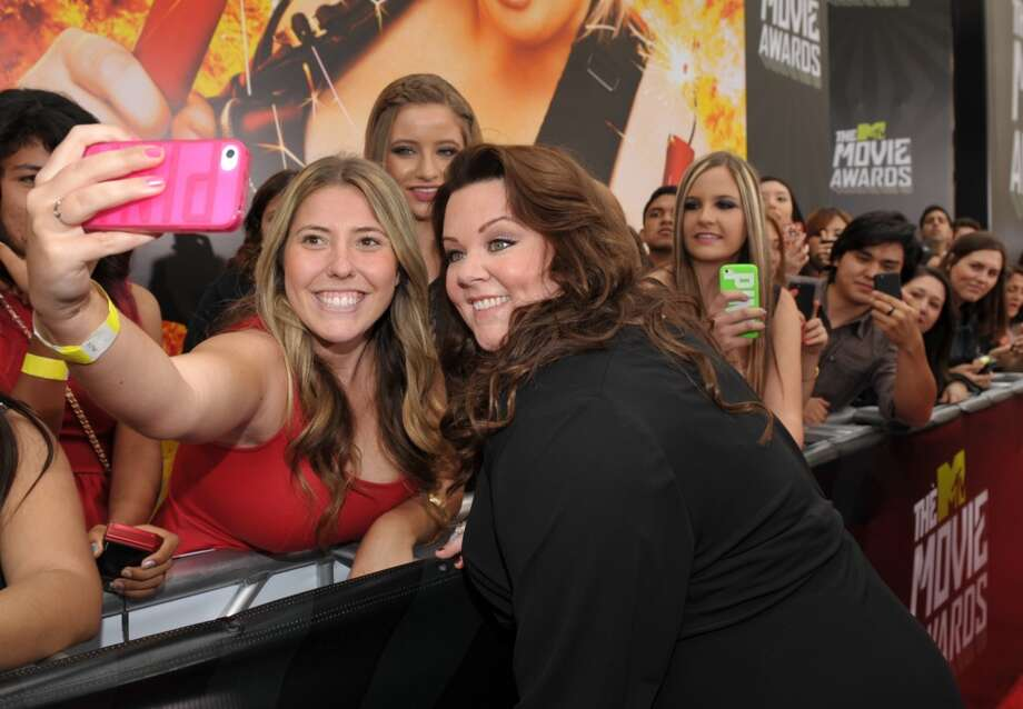 IMAGE DISTRIBUTED FOR MTV - Actress Melissa McCarthy arrives at the MTV Movie Awards in Sony Pictures Studio Lot in Culver City, Calif., on Sunday April 14, 2013. (Photo by John Shearer/Invision for MTV/AP Images)
